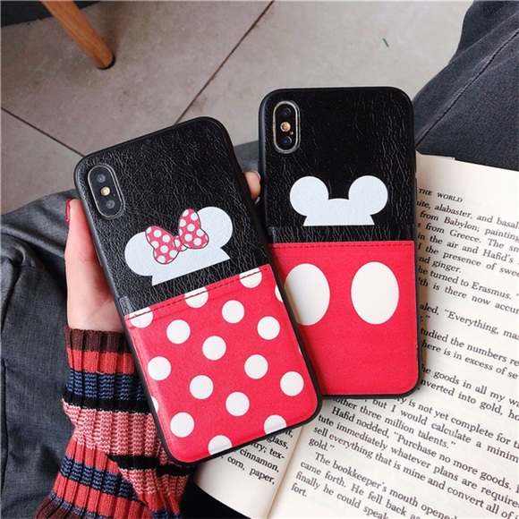 Mickey and Minnie Mouse iPhone Case with Wallet Boutique